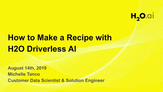 How to Make a Recipe with H2O Driverless AI