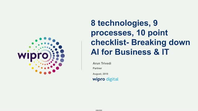 AI for Business & IT - 8 Technologies, 9 processes, 10 checklist items