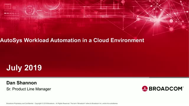 AutoSys Workload Automation in a Cloud Environment