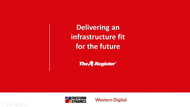 Delivering an Infrastructure Fit for the Future