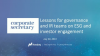 Corporate Secretary Webinar – Lessons for governance and IR teams on ESG