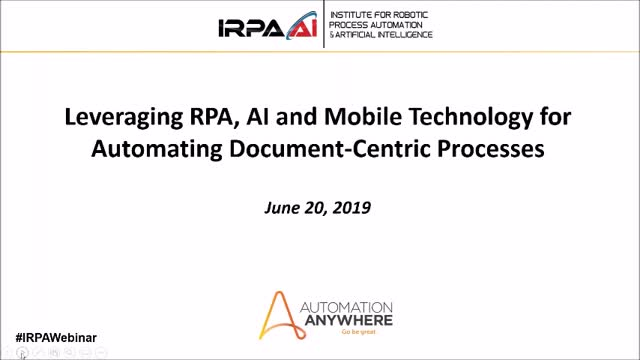 Leveraging RPA, AI and Mobile Technology to Automate Document-Centric Processes