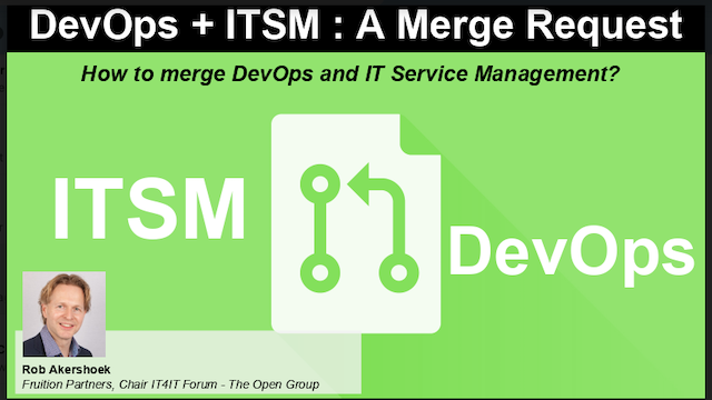 DevOps + ITSM : A Merge Request