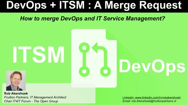 DevOps + ITSM: A Merge Request