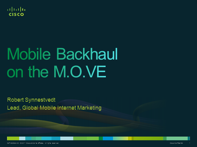 Architecting Mobile Backhaul for the Next Generation Internet