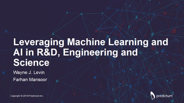 Leveraging Machine Learning and AI in R&D, Engineering and Science