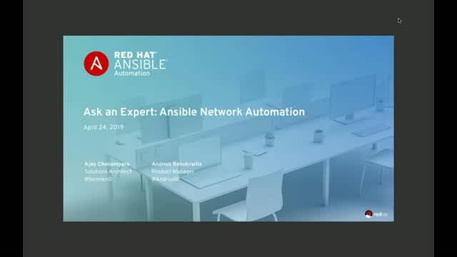 Ask an Expert: Ansible Network Automation