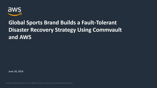 Global Sports Brand Builds a Fault-Tolerant Disaster Recovery Strategy Using Com