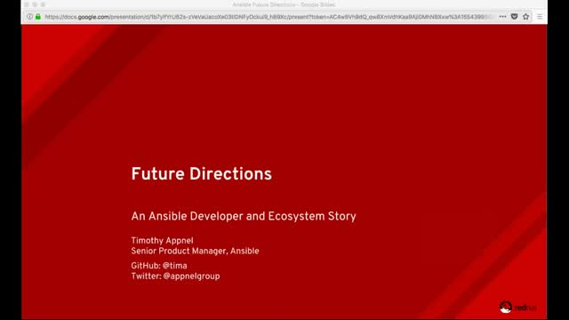 Ansible Developer and Ecosystem Story