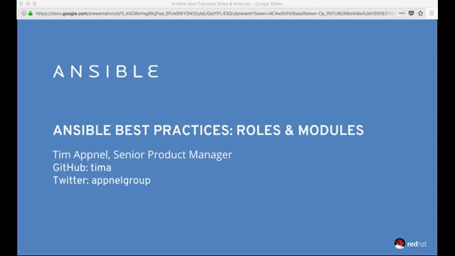 Ansible Best Practices: Roles and Modules