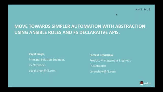 Move Toward Simpler Automation with Ansible and F5