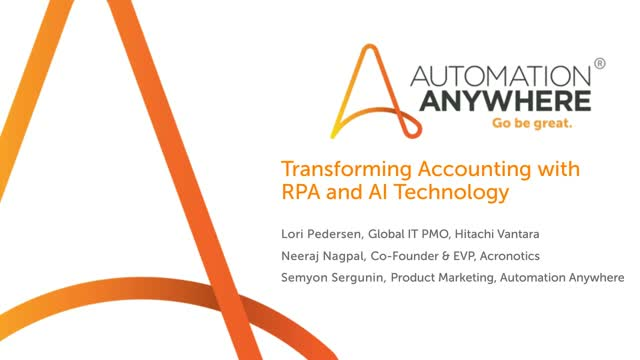 Transforming Accounting with RPA and AI Technology