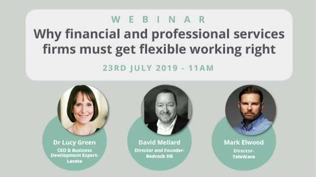 Why financial and professional services firms must get flexible working right