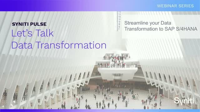 Streamline your Data Transformation to SAP S/4HANA