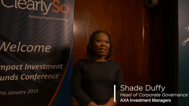 ClearlySo IIFC 2019 - Interview with Shade Duffy, AXA Investment Managers