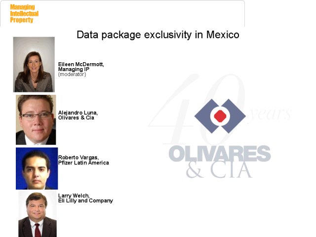 Data package exclusivity rights in Mexico
