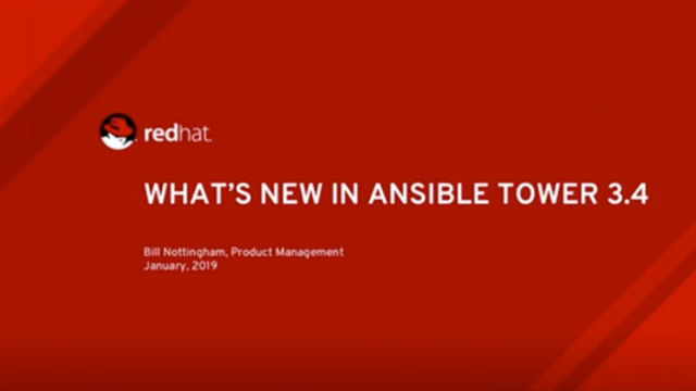 What's New in Ansible Tower 3.4