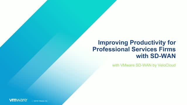Improving Productivity for Professional Services Firms with SD-WAN