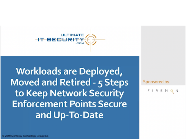5 Steps to Keep Network Security Enforcement Points Secure and Up-To-Date