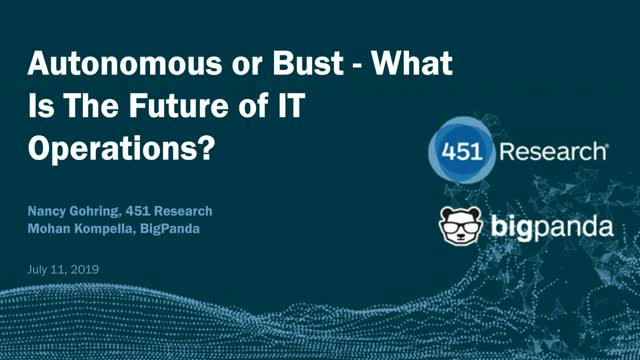 Autonomous or Bust - What Is The Future of IT Operations?