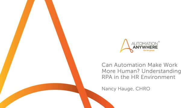 Can Automation Make Work More Human? Understanding RPA in the HR Environment