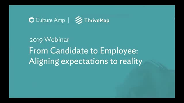 From candidate to employee: Aligning expectations to reality