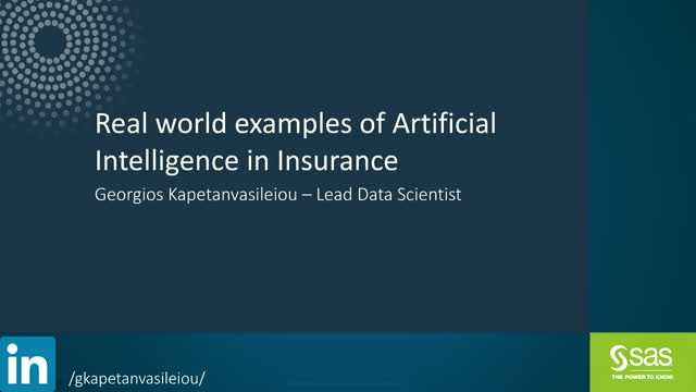 Real world examples of Artificial Intelligence in Insurance