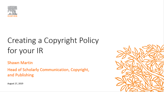 Creating a Copyright Policy for your IR