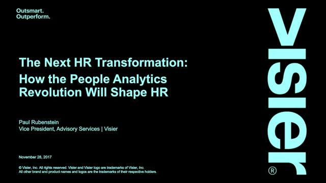 When HR Transformation Starts with People Analytics