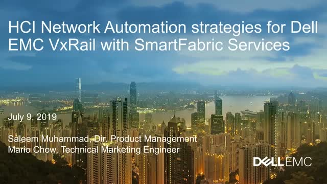 HCI Network Automation Strategies for Dell EMC VxRail with SmartFabric Services
