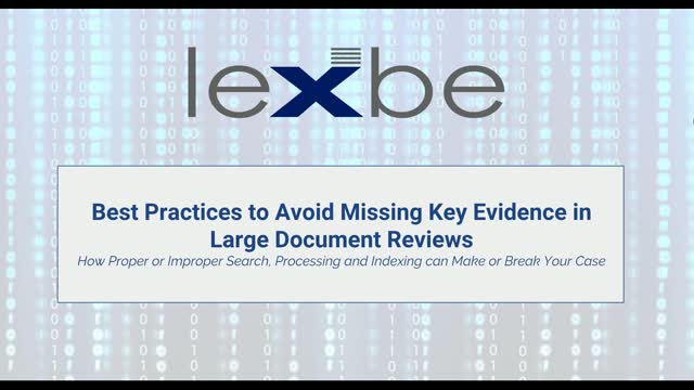 Best Practices to Avoid Missing Key Evidence