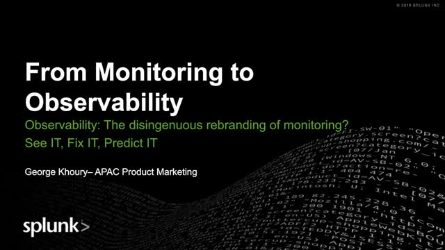How to Move from Monitoring to Observability