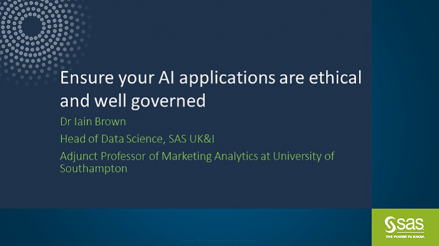 How to ensure AI applications are ethical and well governed