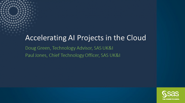 Accelerate your AI projects in the Cloud