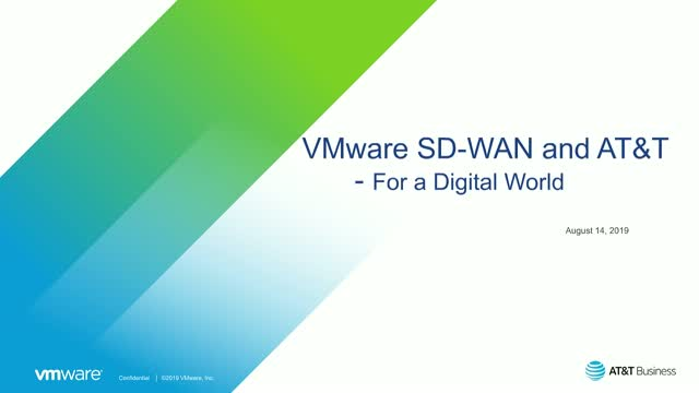VMware SD-WAN and AT&T: The Best of Both Worlds, Together