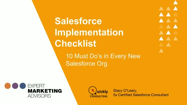 Salesforce Implementation Checklist: 10 Must Do's in Every New Salesforce Org