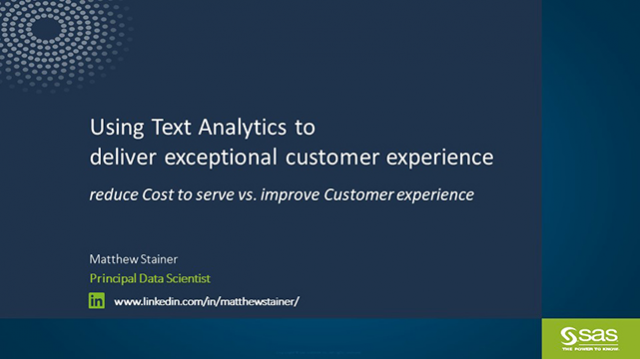 Using text analytics to deliver exceptional customer experience