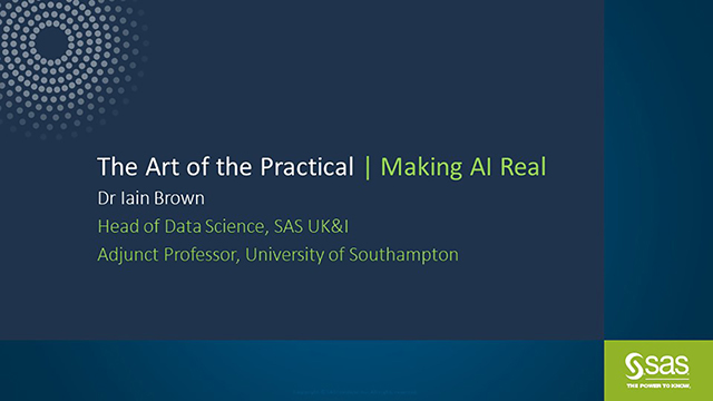 The Art of the Practical - Making AI Real