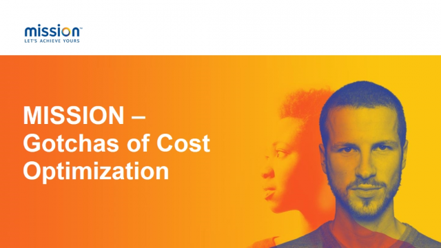 Cost Optimize Your Success in the Cloud