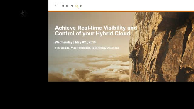 Achieve Real-time Visibility and Control of Your Hybrid Cloud