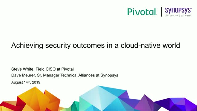Achieving Security Outcomes in a Cloud-Native World