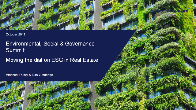 Moving the dial on ESG in Real Estate
