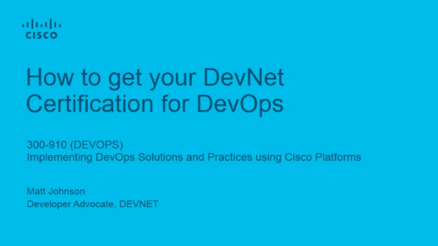 How to get your DevNet Certification for DevOps