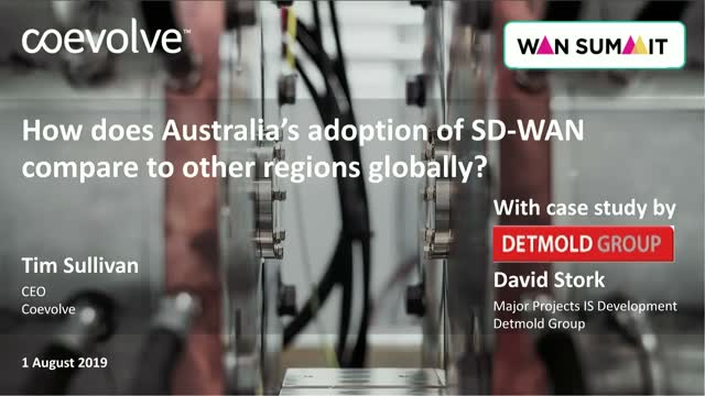 How does Australia's adoption of SD-WAN compare to other regions globally?