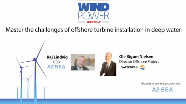Master the challenges of offshore turbine installation in deeper water