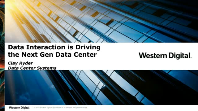 Data Interaction is Driving the Next Generation Data Center