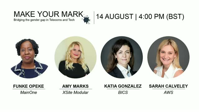 FREE WEBINAR: Make Your Mark – Bridging the Gender Gap in Telecoms & Tech