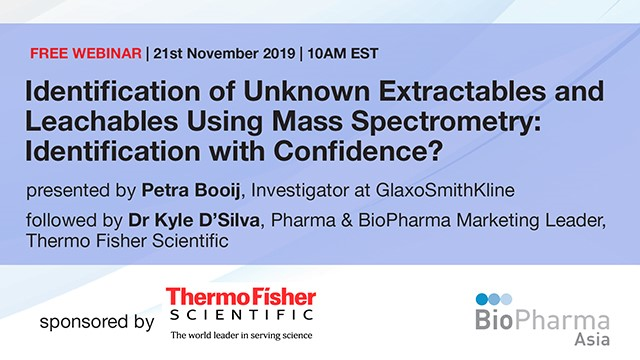 Identification of unknown extractables and leachables using mass spectrometry...