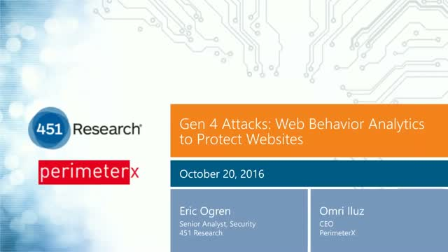 Next Generation Bot Attacks - Protect your Website With Web Behavior Analytics