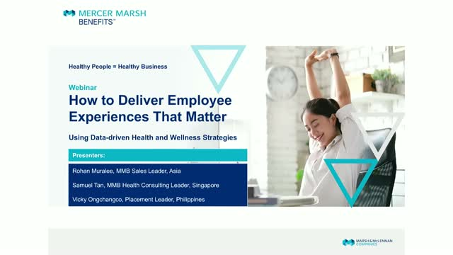 How to Deliver Employee Health and Wellness Experiences That Matter